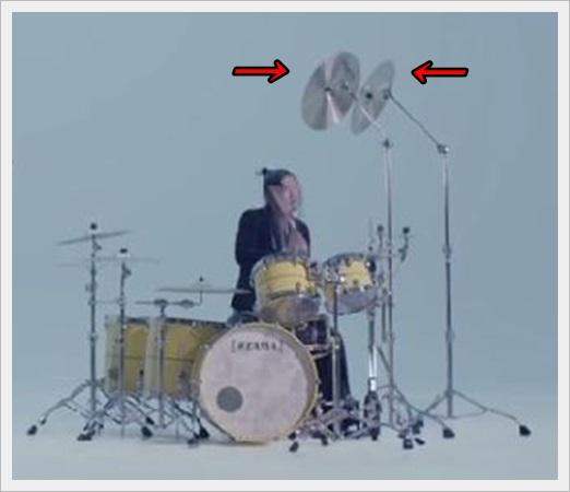 アレキサンドロス 庄村 ドラム 上手い シンバル 服 髪型 クラッシュシンバル位置1