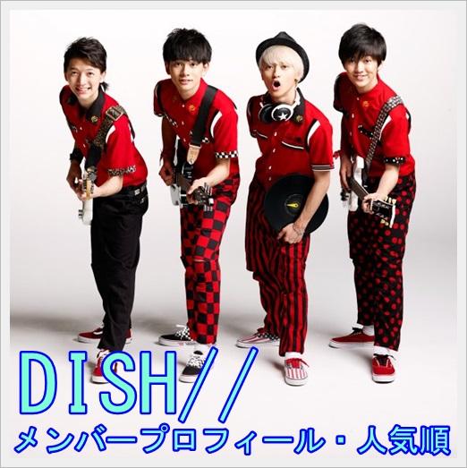 DISH,メンバー,まとめ,人気順,カラー,年齢,性格1