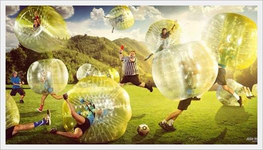 雨の日でもできるスポーツまとめ!人気のおすすめ室内スポーツ10選バブルサッカー