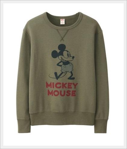 ユニクロの春服メンズコーデ2017!絶対に買うべき新作ランキングMENディズニースウェットシャツ(スタンド・長袖)