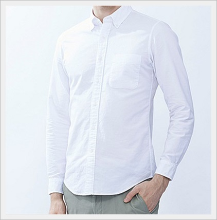 ユニクロの春服メンズコーデ2017!絶対に買うべき新作ランキング!MENオックスフォードスリムフィットシャツ(長袖)