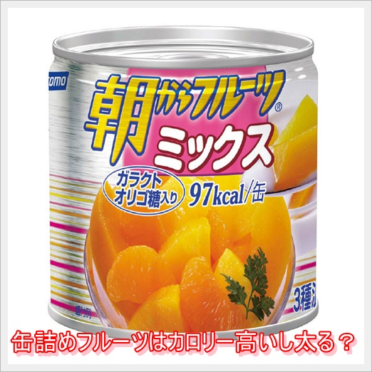 缶詰めフルーツはカロリー高いし太る?栄養ありダイエット効果も?1