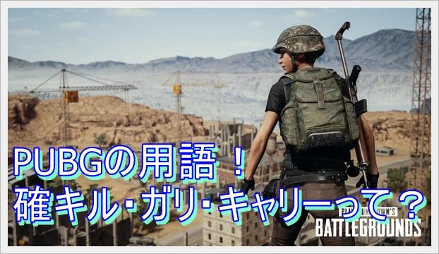 PUBGの用語紹介!確キル・カッキル・ガリ・キャリー・ggなども!2