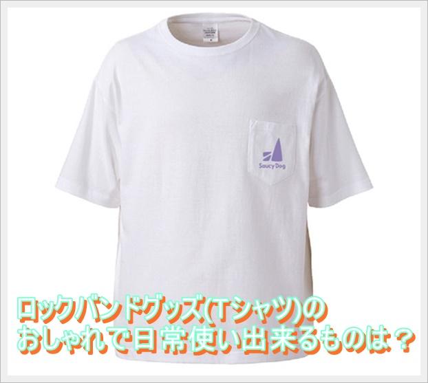 ロックバンドグッズ(Tシャツ)のおしゃれで日常使い出来るものは?1